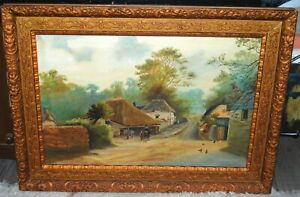 "Early 20th/C. Farmyard Landscape ""Cockington Forge"""