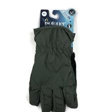 Isotoner Mens Winter Gloves Touchscreen Dry Gray Black Sz Medium