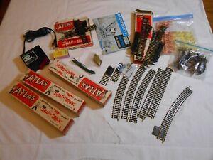 HO TRAIN MODEL RAILROAD STARTER KIT CLASSIC ATLAS BRASS TRACK POWER PACK & MORE!
