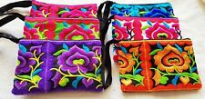 Thai Hmong Handmade Embroidered Purse Clutch Wallet Coin Bags 6 Pcs Multi Color