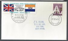 1971 Republic of South Africa Special Courier Mail to UK