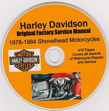 HARLEY DAVIDSON Shovelhead Original Factory Shop Repair Manual 1978-1984 USA