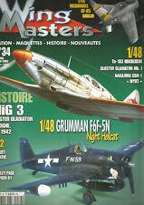 WING MASTERS N° 34 MIG 3 / GRUMMAN F6F5N / MC DONNELL XF-85 GOBLIN / BREGUET