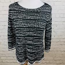 Eileen Fisher Italian Yarn Pullover Sweater Womens Size Petite Medium Black