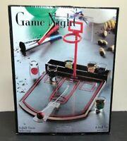 Game Night Crystal Clear Shot Glass Basketball Bar Game Set NIB