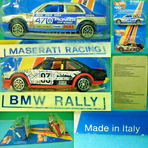MATTEL HOT WHEELS SUPER 1/43 MODELLI MASERATI RACING – BMW RALLY