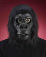 Gorilla Full Over the Head Latex Mask with Fur Adult Size