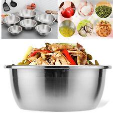 6 Pack Stainless Steel Bowls Mixing Salad Bakeware Dough Nesting Bowl Premium UK