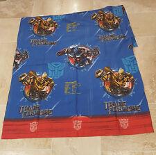 Transformers Revenge of the Fallen 2009 Dreamworks Twin Flat Sheet Fabric Hasbro
