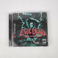 Evil Dead: Hail to the King (Sega Dreamcast, 2000) Complete Rare CIB TESTED