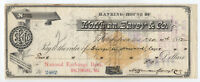 1882 Hagerstown MD check Hoffman, Eavey & Co. with dog vignette RN-G1 [y2894]