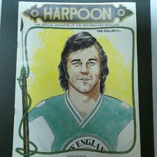 1972 Harpoon The New England Whalers Official Hockey Magazine