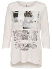 90/22 NEU ONLY Damen Pullover Shirt onlHALINA 3/4 NEVER/SNAKE TOP BOX ESS Gr. M