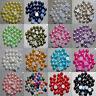 2000pcs Multicolor Half-round Flatback Acrylic Pearl Beads For Decoration Craft