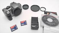 Canon EOS Rebel 6.3MP Digital SLR Camera Body 300D Silver CF / charger /filters