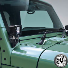 07-17 Jeep JK LED Light Windshield A-Pillar Mount Corner Relocate Brackets Kit