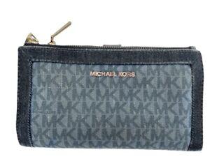 Michael Kors Adele Blue Denim Smartphone Wallet  - Please read