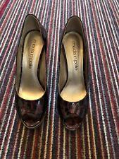 Moda in Pelle patente Estampado de Leopardo Zapatos 5