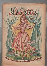 LISETTE Année 1949 complète, n°1 à 52. Très bel état, complet