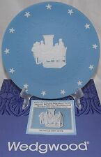 """WEDGWOOD BLUE JASPER WARE AMERICAN INDEPENDANCE THE DECLARATION SIGNED 8"""" PLATE"""