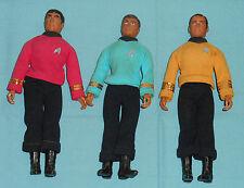 vintage Mego Star Trek CAPT. KIRK & BONES McCOY & SCOTTY LOT