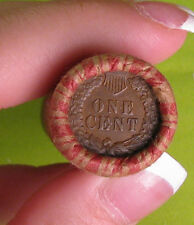 ONE UNOPENED INDIAN HEAD CENT WHEAT PENNY SHOTGUN ROLL FROM ESTATE .. R4