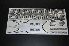 Cannondale Stickers  Set  Silver & Black.