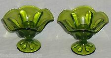 "Viking Glass Candle Holder Green Epic Taper Vintage 3.5"""