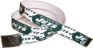 New York JETS BELT & Buckle Football Fan Gear Logo Team Apparel Pro NFL Shop NY