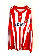 Sunderland Home Shirt 2012. XXL. Adidas. Red Adults Long Sleeves Football Top.
