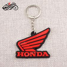 HONDA White Wing Logo Keychain Key Ring Rubber Motorcycle Car Bike Cool