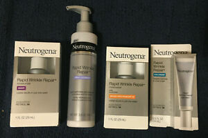 Neutrogena Rapid Wrinkle Repair Products ~Moisturizers, Eye Cream, Cleanser~ New