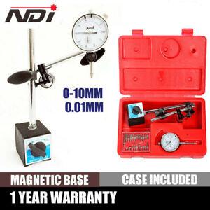 NDI 0-10mm Dial Indicator Gauge With Magnetic Base & 22 Indicator Point Set
