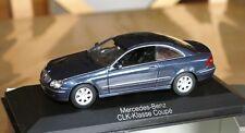 1:43 MERCEDES CLASSE CLK COUPE c209 Blue Minichamps blu CLASS 200 320 500 240