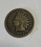 FREE SHIP! 1903 Indian Head Cent -100+ Year Old Penny -20th Century US Type Coin
