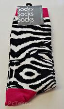 6be7f6ae7 Urban Outfitters UO Zebra Print Crew Socks Size 10-13 NWT
