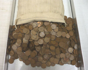 6,000 Wheat Pennies ~ Dates and Mints will Vary ~ Unsearched ~ apprx 40 lbs