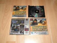 MEDAL OF HONOR 1 DE EA GAMES PARA LA SONY PS1 USADO COMPLETO EN BUEN ESTADO