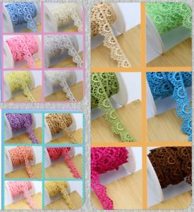 1.35cm Wide 2M Beautiful Daisy Fine Scallop Edge Lace Trim Colour Guipure Sewing