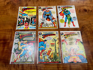 Action Comics 239 240 243 244 246 247 Bronze Age Lot Of 6 Superman (P)