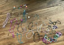 Huge Lot Of Girl's Jewerly Dress Up Play + More Bracelets Necklaces