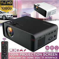 1080P 4K HD Home Projector HDMI/AV/USB/SD/VGA Support Dolby Sound 2300 Lumens d