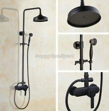 Black Oil Rubbed Brass Bathroom Rainfall Shower Faucet Set Mixer Tap yhg151