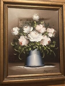 Beautiful Antique Painting  Signed By Suzanne Dun