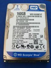 Disco duro interno HD 2.5 Laptop Portatil SATA 160gb western digital Funcionando