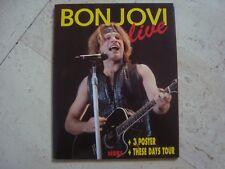 JON BON JOVI exclusiv RARE original import bio photo book + 4 large Poster