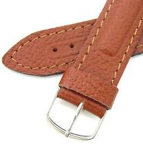 Vintage Military Watch Band 18mm Vostok Komandirskie Brown Pear Genuine Leather
