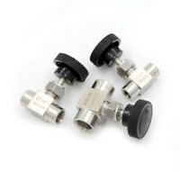 """1/4""""BSP Female Thread Stainless Flow Control Shut Off Needle Valve Water Gas CO"""