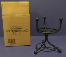 TASTE OF HOME BLACK WROUGHT IRON TRIPLE DIP POTTERY STAND - 4034  NEW IN BOX