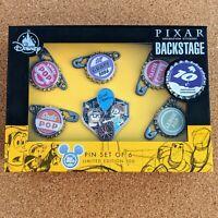 UP 10th Anniversary Pin Set 2019 Pixar Carl Ellie Bottle Caps D23 Expo LE 500